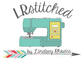 LRstitched | Lindsey Rhodes logo