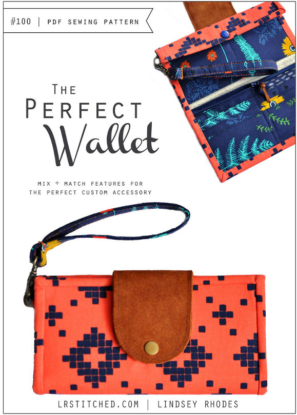 The Perfect Wallet sewing pattern | LRstitched.com | Lindsey Rhodes