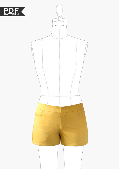 maritime shorts by Grainline Studio